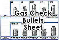 Gas Check Bullets Sheet
