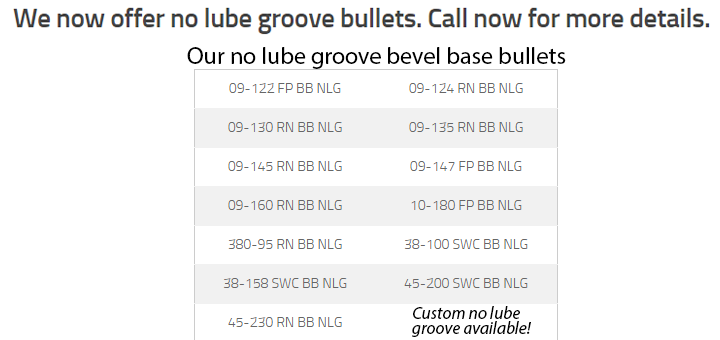 no lube groove bullets
